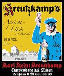 Kreutzkamp`s Apricot Brandy