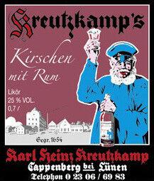 Kreutzkamp`s Kirsch mit Rum
